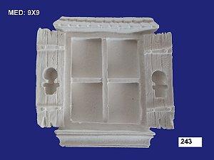 Aplique em Resina Janela Colonial 9x9 cm - 243