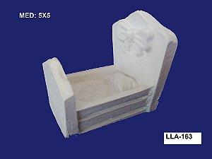 Aplique em Resina Berço Com Laço 5x5 cm - LLA 163