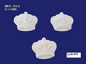 Aplique em Resina Kit 3 Coroas 2,5 cm - LLA 147