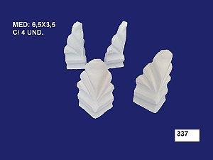 Aplique em Resina Conjunto De Pé Kit C/4 6,5X3,5cm  - 337