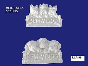 Aplique em Resina Trio De Cães 2 Peças 3,5x5,5cm - LLA 96