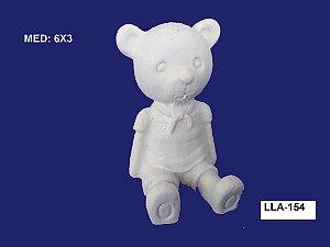 Aplique em Resina Baby Urso Sentado 6x3cm - LLA 154