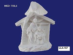 Aplique em Resina Presépio 7x6,5cm  LLA 167