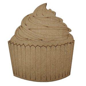 Aplique Laser MDF -  Bolinho Cupcake 9 cm