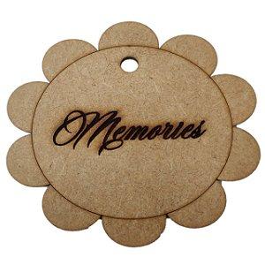 Aplique Laser MDF - Tag Memories 10 cm