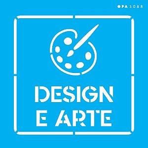 Stencil 14x14 Profissões Design e Arte - OPA 3088