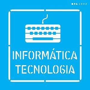 Stencil 14x14 Profissões Informática - OPA 3092