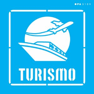 Stencil 14x14 Profissões Turismo - OPA 3109