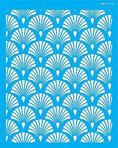 Stencil 20x25 Estamparia Leque - OPA 3099