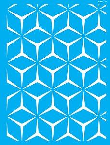 Stencil 32x42 Estamparia Geométrica I - OPA 3107
