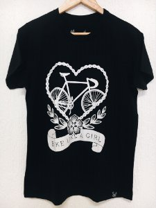 Camiseta - Bike like a Girl - Preto