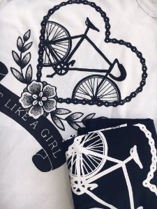 Camiseta - Bike like a Girl - Branco