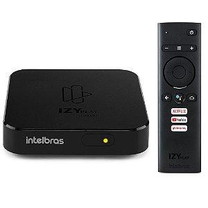 Smart Box Izy Play Intelbras Full HD 1080p Android TV 9.0 Bluetooth 8GB Processador Quad-Core