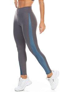 Calça Legging Recorte Bicolor