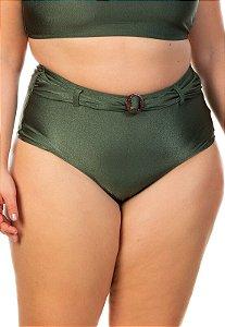 Tanga Hot Pants Fio Dupla e Cinto Cor Verde Croco