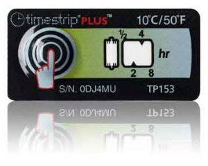 (10°C/50°F) 8h - Timestrip PLUS TP-153