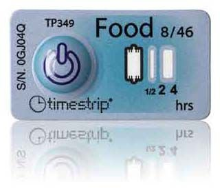 (8°C/46°F) 4h - Timestrip Food TP-349
