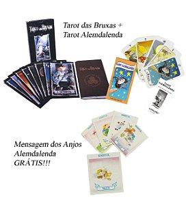 kit Tarô das Bruxas + Tarô Alemdalenda + Mensagem dos anjos.
