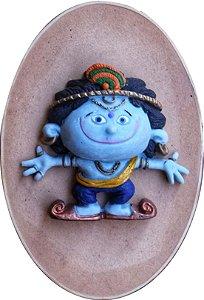 Caixinha relevo Krishna em pé
