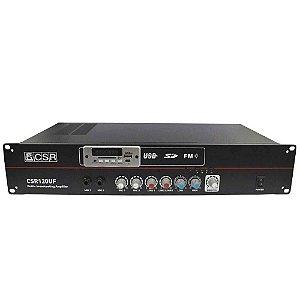 Amplificador de Potência CSR 120UF USB/BLUETOOTH/FM/SD