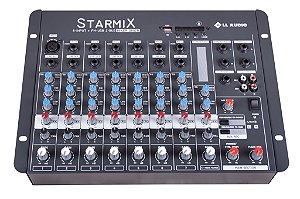 Mesa de Som 8 Canais BLUETOOTH/USB STARMIX S-802R