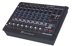 Mesa de Som 8 Canais STARMIX S-802R