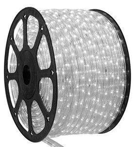 Mangueira de LED BRANCA 220V P/ DECORAÇÃO DE NATAL ROLO 100 METROS