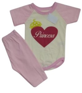 Conjunto Body com Calça Personagens - Princesa