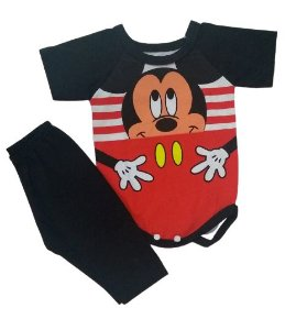 Conjunto Body com Calça Personagens - Mickey