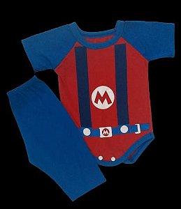 Conjunto Body com Calça Personagens - Super Mario