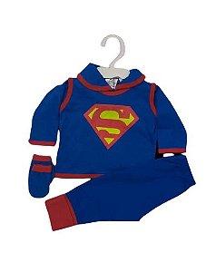 Conjunto Pagão Bebê recém nascido com 4 peças - Super Man