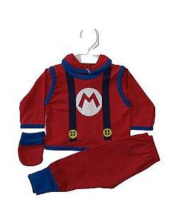 Conjunto Pagão Bebê recém nascido com 4 peças - Super Mario