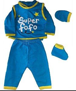 Conjunto Pagão Bebê recém nascido com 4 peças  - Super Fofo