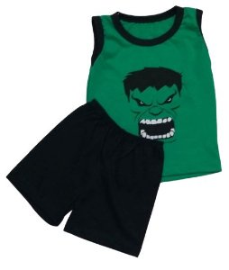Conjunto Camisa Regata e Short Personagens - Hulk