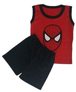 Conjunto Camisa Regata e Short Personagens - Homem Aranha
