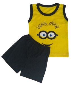 Conjunto Camisa Regata e Short Personagens - Minions