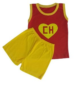 Conjunto Camisa Regata e Short Personagens - Chapolin