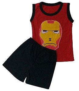 Conjunto Camisa Regata e Short Personagens - Homem de Ferro