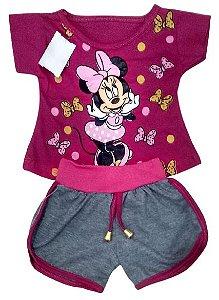 Conjunto Short e Camiseta Minnie