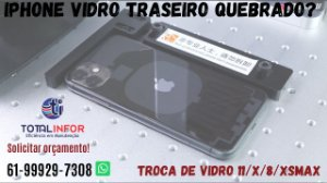 Vidro iPhone quebrado? Vidro da tampa traseira iPhone