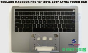 "Teclado Macbook Pro 13"" 2016 2017 A1706 touch Bar"