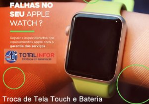 Conserto tela vidro Apple Watch serie 2 3, 4, 5