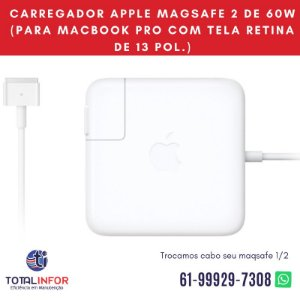 Carregador Apple MagSafe 2 de 45W para MacBook Air