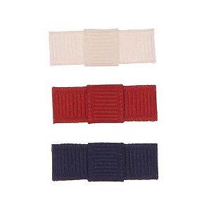 ARN004-04 - Laço Simple P Gorgurão Kit 3 - branco/vermelho/marinho