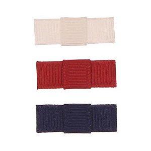 ARN004-05 - Laço Simple P Gorgurão Kit 3 - branco/vermelho/preto