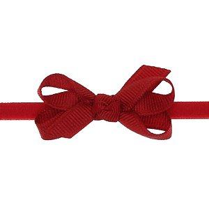 AFX001-04 - Faixa Laço Classic P Gorgurão - Vermelho