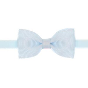 AFX004-16 - Faixa Laço Farfalle P Gorgurão - Azul Celeste