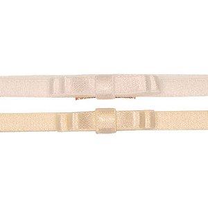 AFX018-02 - Faixa Laço Simple Doppio Acetinado Kit 2 - Branco Marfim