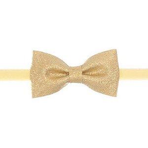 AFX035-01 - Faixa Skinny Laço Farfalle P Viés - dourado