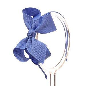 AZZ001-22 - Tiara Laço Classic G Gorgurão - Azul Capri